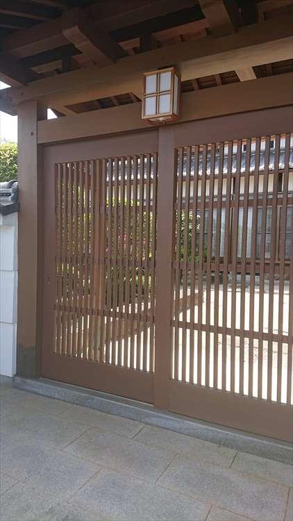 数奇屋門塗装工事